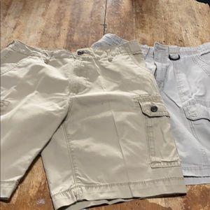 Two pairs Men's 32/33 Khaki Shorts